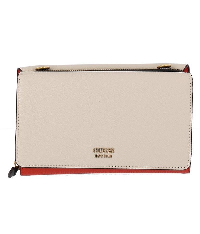 CAMI DOUBLE FLAP CROSSBODY(バッグ・鞄・小物/財布 ・長財布・二つ折り(折りたたみ財布) ・ショルダーバッグ) | GUESS