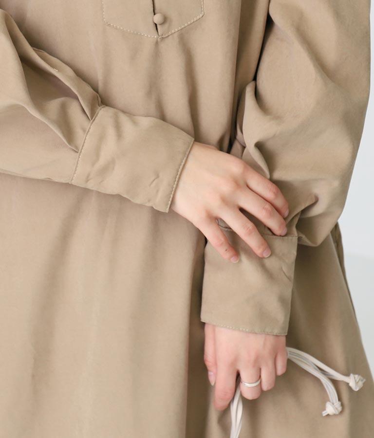 ピーチバンドカラーワンピース(ワンピース・ドレス/ロングワンピ)   Alluge