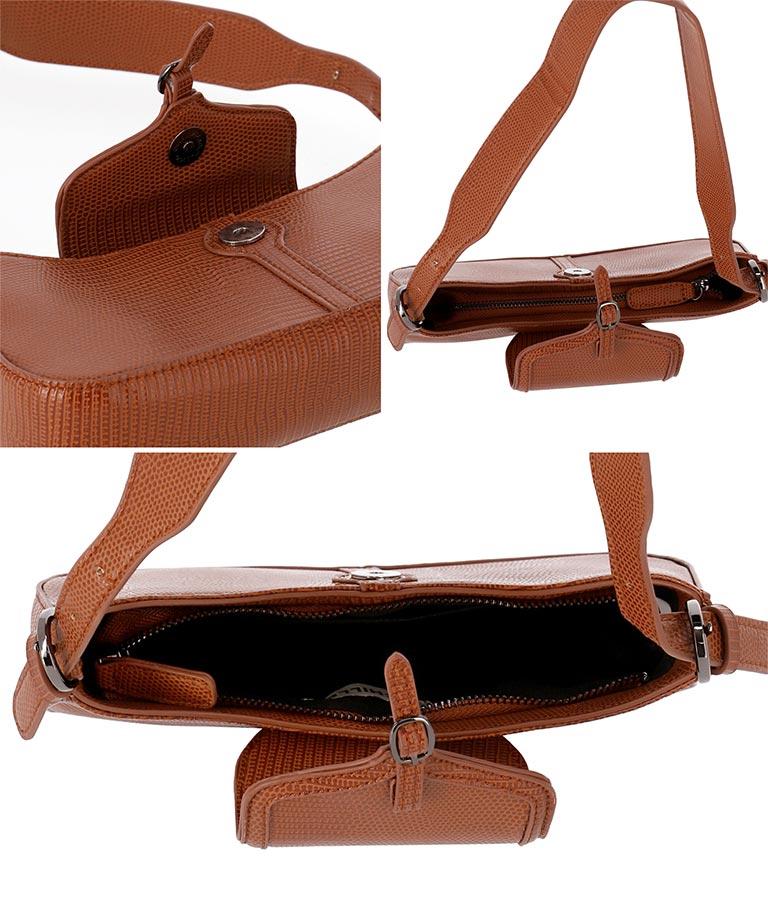 型押しビンテージ風スクエアバッグ(バッグ・鞄・小物/ハンドバッグ・ショルダーバッグ) | CHILLE
