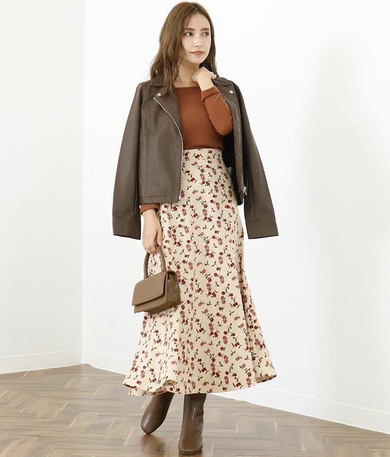 コーデュロイ×花柄マーメイドスカート(ボトムス・パンツ /スカート) | CHILLE