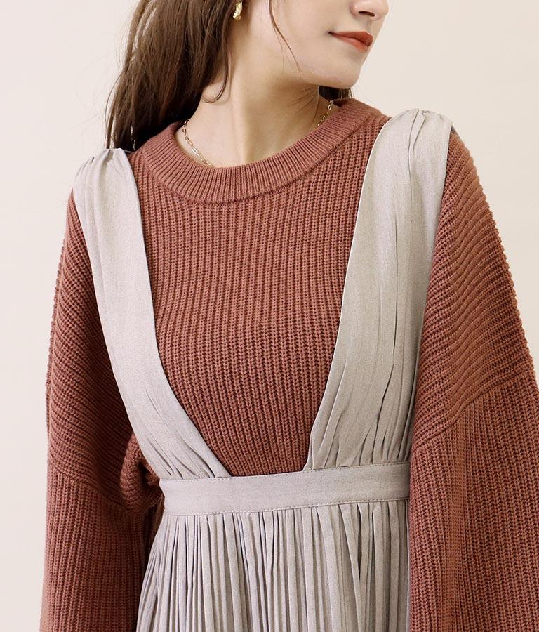 消しプリーツジャンパースカート(ワンピース・ドレス/ロングワンピ・ミディアムワンピ) | CHILLE