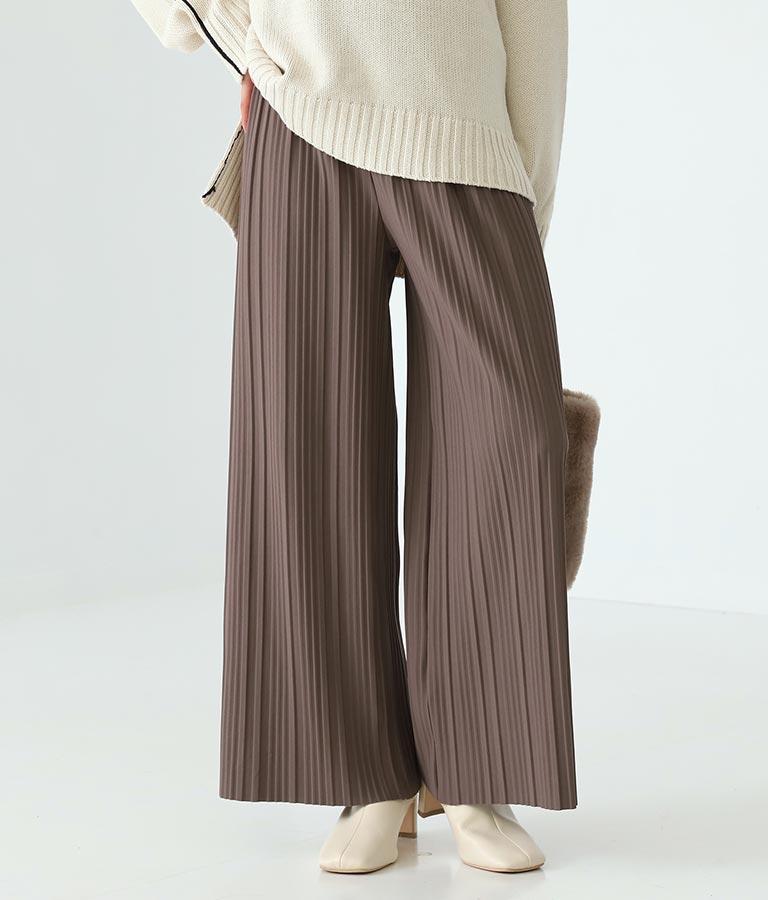 ランダムプリーツ裏起毛パンツ(ボトムス・パンツ /ロングパンツ) | Alluge