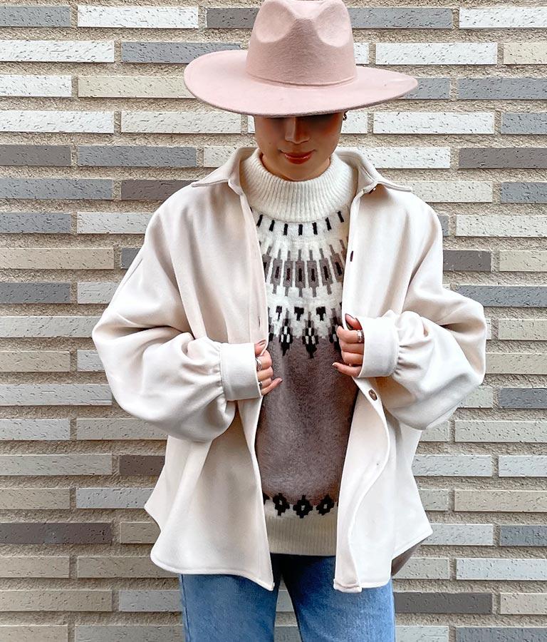 フェイクウールドルマンスリーブシャツ | anap mimpi