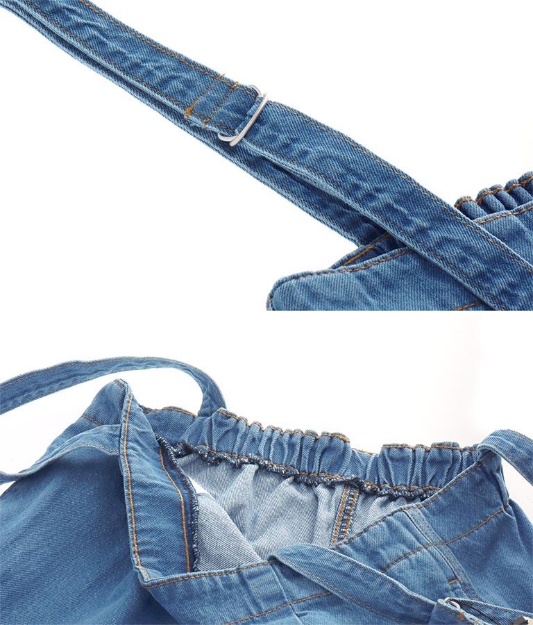 サスペンダーデニムサロペット(ワンピース・ドレス/サロペット/オールインワン) | anap mimpi