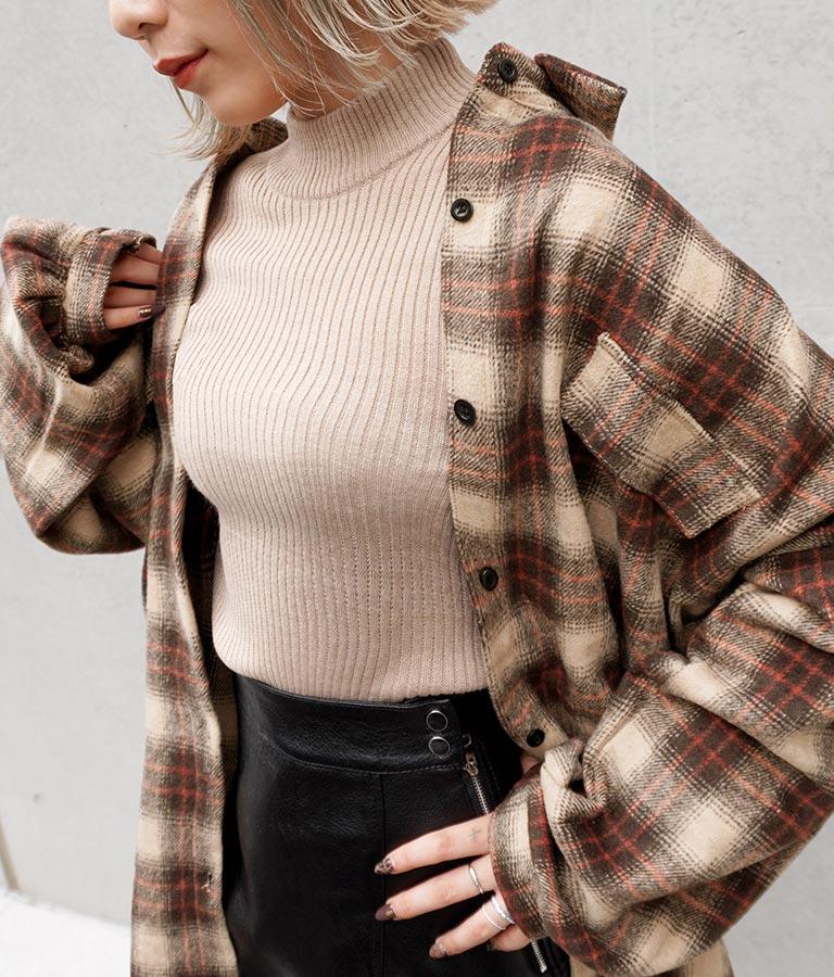 チェック厚手オーバーサイズシャツ(トップス/チェックシャツ・シャツ・ブラウス) | ANAP