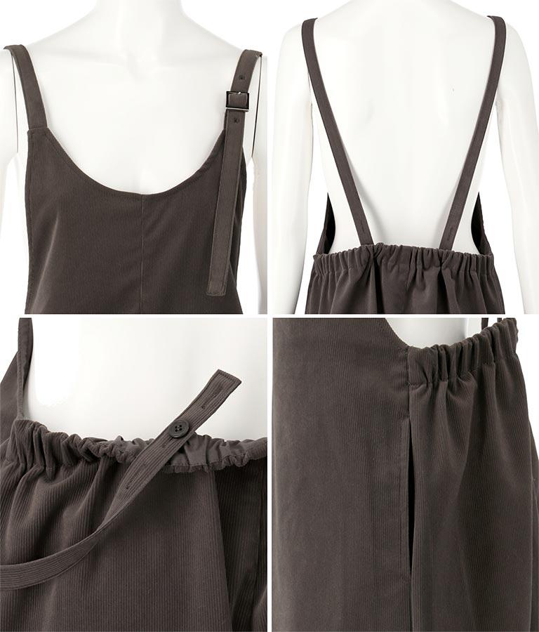 ベロアコーデュロイサロペット(ワンピース・ドレス/サロペット/オールインワン)   Alluge