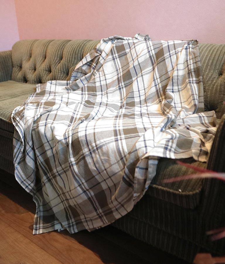 チェック柄ビッグマルチクロス(インテリア雑貨/ブランケット・寝具・寝具カバー・インテリアアクセサリー・ラグ・マット) | ANAP HOME