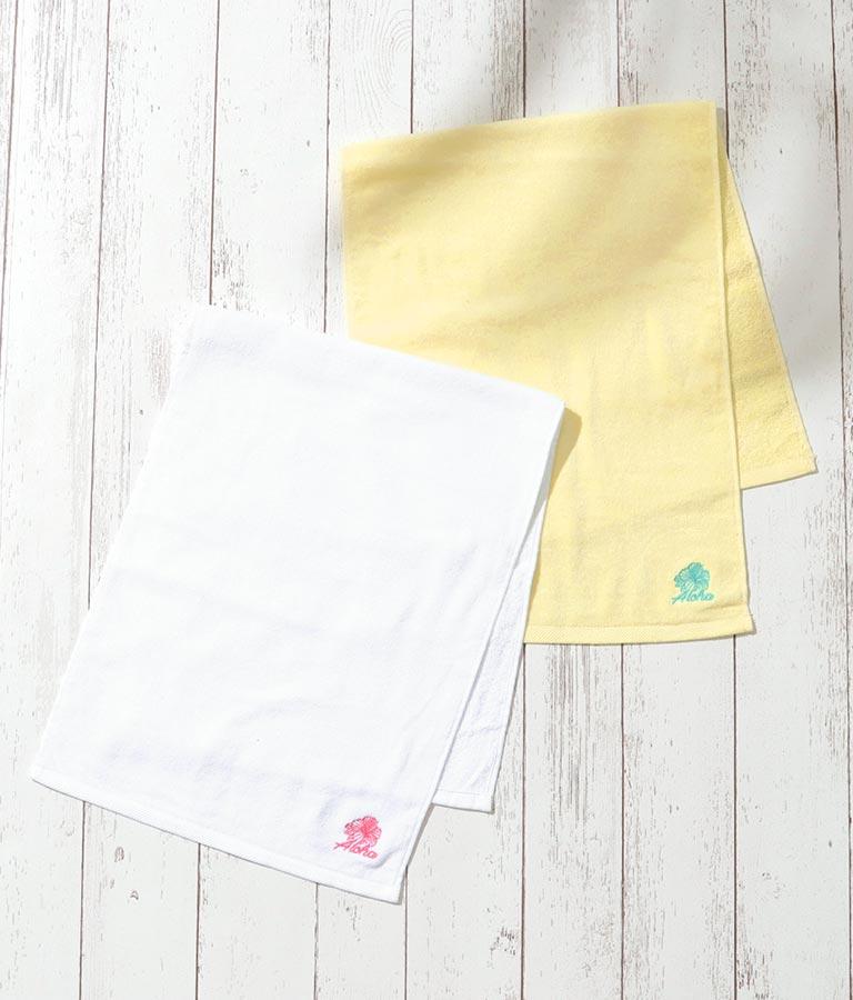 アロハ刺繍フェイスタオル