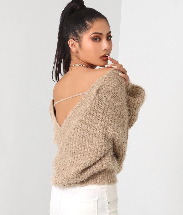 シャギーヤーンルーズシルエットニットトップス(トップス/ニット/セーター) | anap Latina