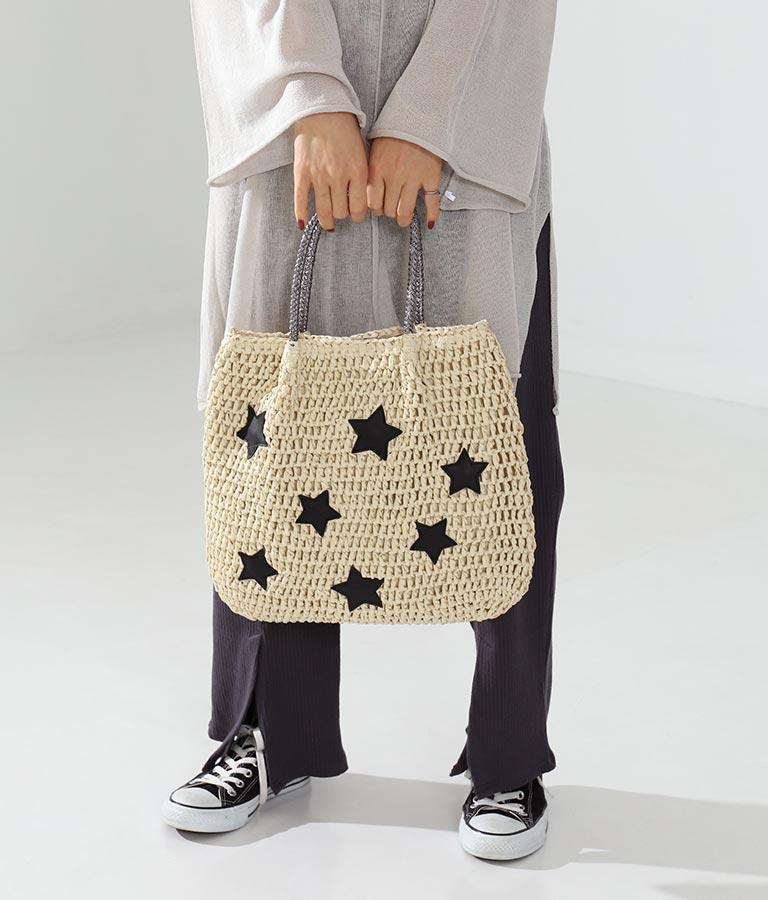 星モチーフペーパートートバッグ(バッグ・鞄・小物/トートバッグ) | Alluge