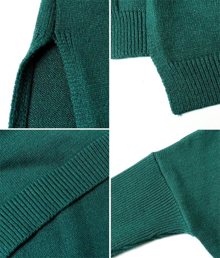 両Vネックサイドスリットタイトニットチュニック(トップス/ニット/セーター) | anap Latina