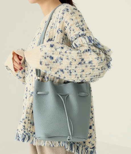エコバッグ付き巾着ショルダーバッグ(バッグ・鞄・小物/ショルダーバッグ・トートバッグ) | AULI