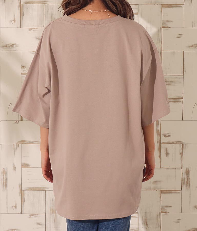 USAコットンヘムラウンドビッグTシャツ(トップス/Tシャツ) | anap mimpi