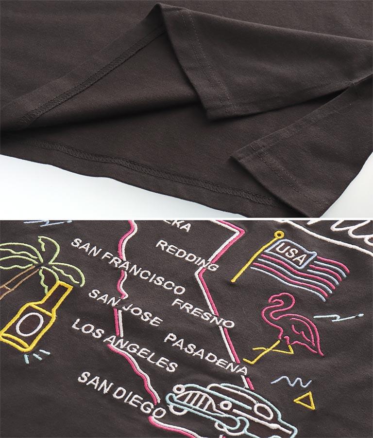 USAコットンマップ刺繍ビッグTシャツ(トップス/Tシャツ) | anap mimpi