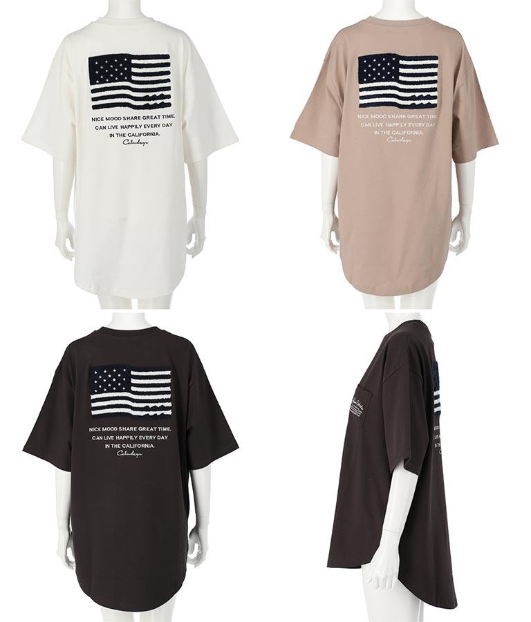 USAコットンサガラ刺繍ビッグTシャツ(トップス/Tシャツ) | anap mimpi