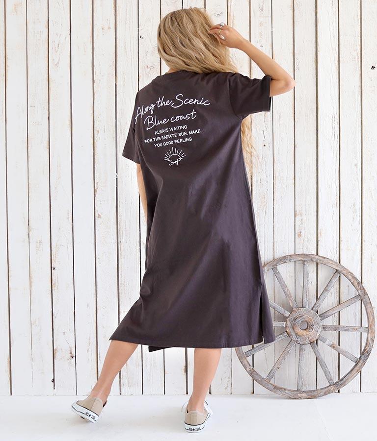 USAコットンメッセージ刺繍マキシワンピース(ワンピース・ドレス/ロングワンピ) | anap mimpi