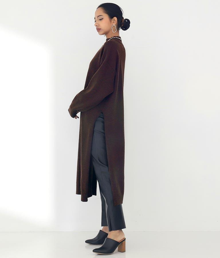 アルパカタッチ立ち襟ワンピース(ワンピース・ドレス/ロングワンピ・タートルニットワンピース) | Settimissimo