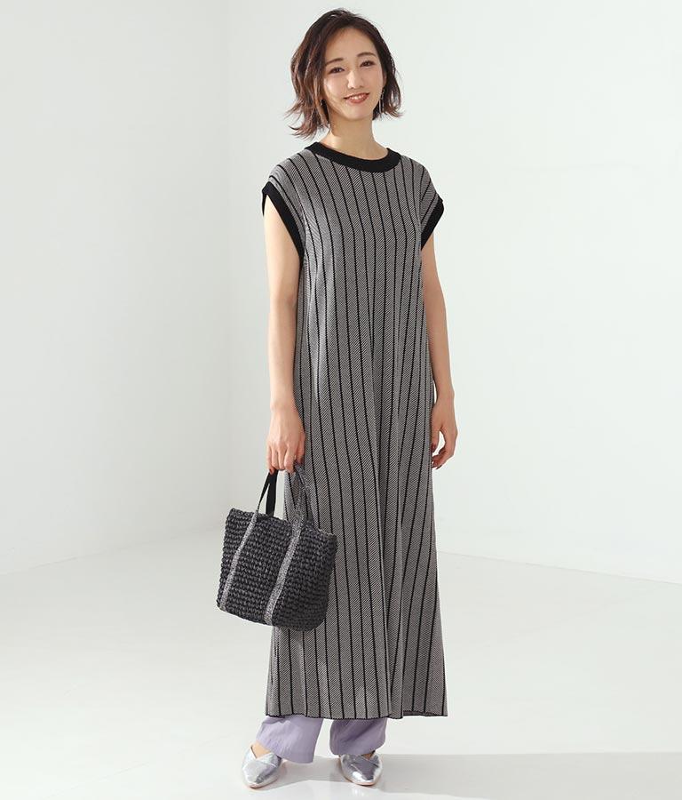 ジャガードバックスリットワンピース(ワンピース・ドレス/ロングワンピ) | Alluge