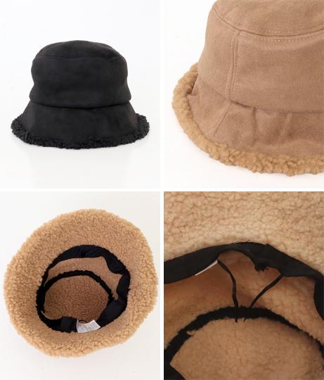 フェイクムートンバケットハット(ファッション雑貨/ハット・キャップ・ニット帽 ・キャスケット・ベレー帽) | Factor=