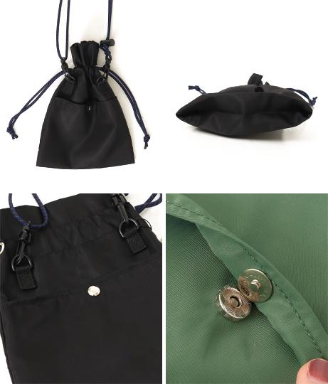 ポリエステル巾着ミニショルダーバッグ(バッグ・鞄・小物/ショルダーバッグ) | Factor=