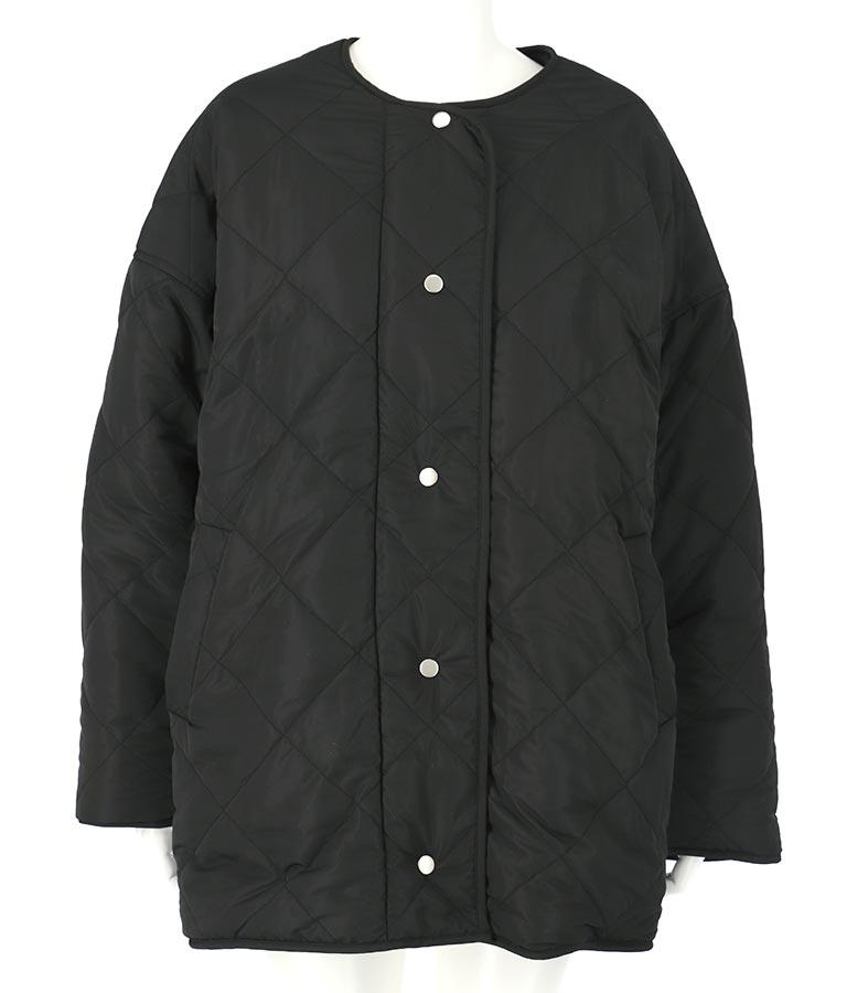 ボア×キルティングリバーシブルブルゾン(アウター(コート・ジャケット) /コート (トレンチコート・ロングコート) ・ボアジャケット) | CHILLE
