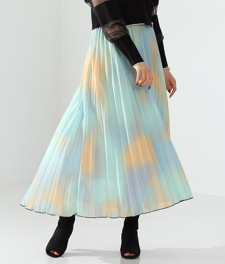 カラーグラデーションスカート