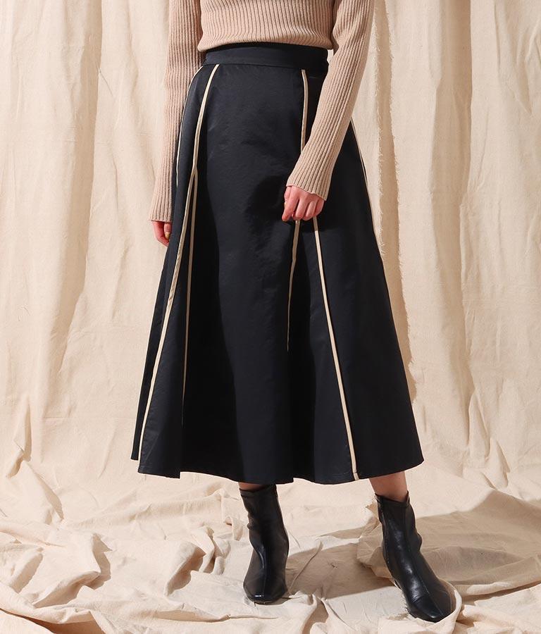 パイピングデザインスカート(ボトムス・パンツ /ミモレ丈スカート・スカート) | Alluge