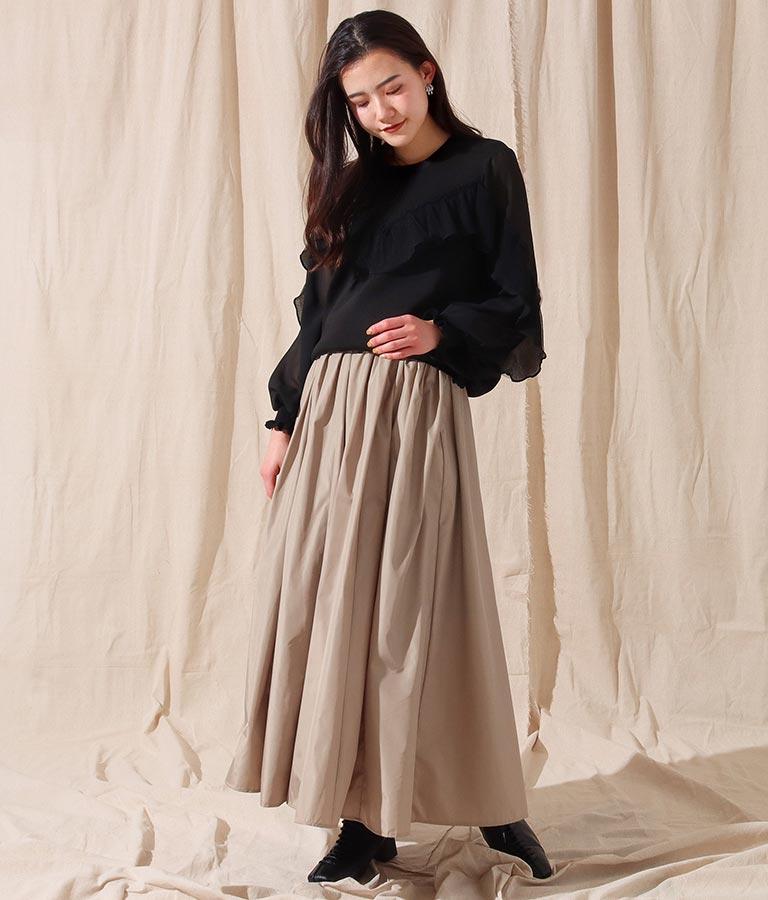 タフタマキシスカート(ボトムス・パンツ /スカート) | Alluge