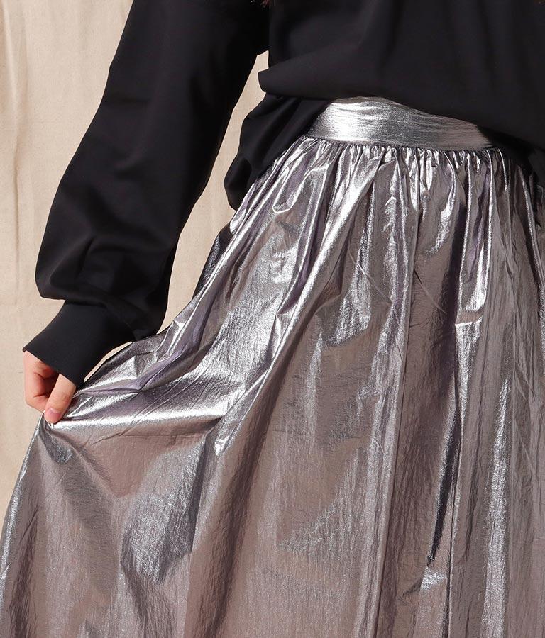 箔プリントギャザーデザインスカート(ボトムス・パンツ /スカート) | Alluge