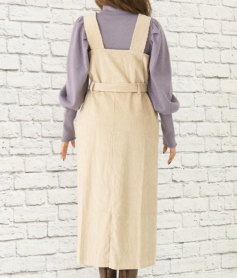 ベルト付きコーデュロイワンピース(ワンピース・ドレス/ロングワンピ)   CHILLE