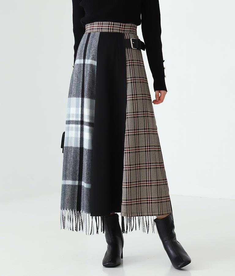 ストール使いキルト風スカート(ボトムス・パンツ /スカート)   Alluge