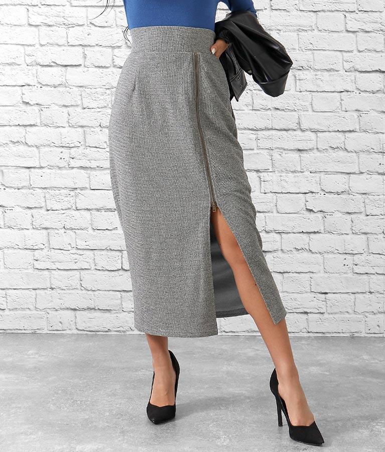 サイドジップスリットツイードタイトスカート(ボトムス・パンツ /スカート) | anap Latina