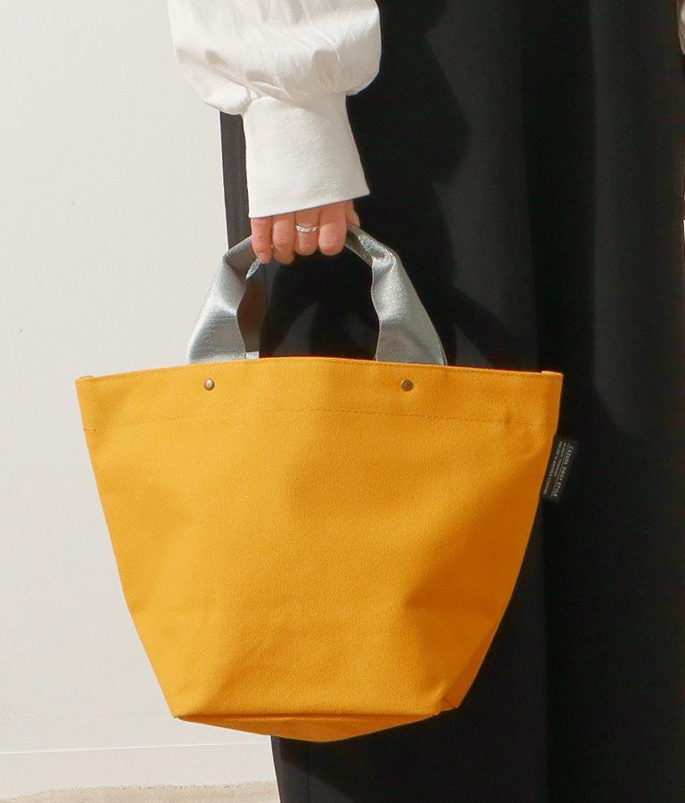 バイカラーデザインミニトートバッグ