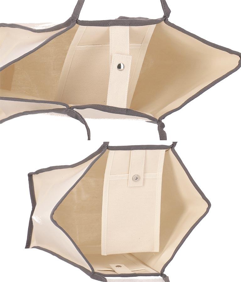 パイピングデザインキャンバストートバッグ(バッグ・鞄・小物/トートバッグ) | Alluge