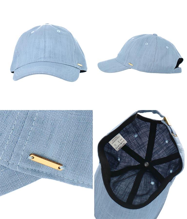 麻混シンプルキャップ(ファッション雑貨/ハット・キャップ・ニット帽 ・キャスケット・ベレー帽) | Alluge