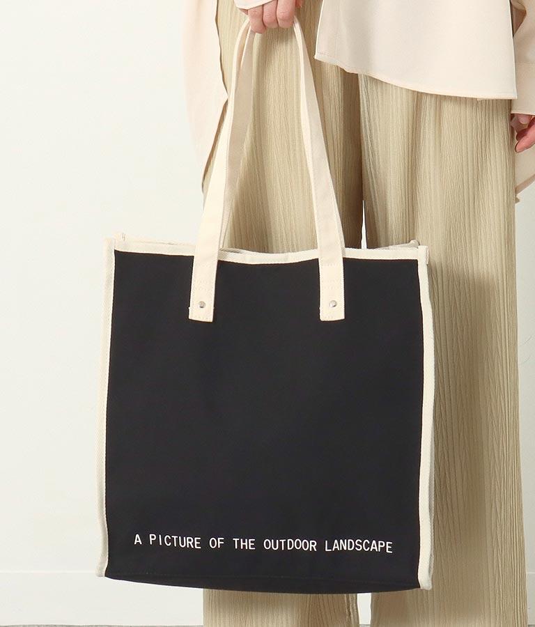 パイピングスクエアキャンバスバッグ(バッグ・鞄・小物/トートバッグ) | Alluge