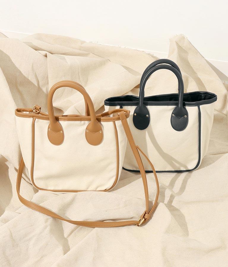 パイピングデザイン2WAYバッグ(バッグ・鞄・小物/ショルダーバッグ・トートバッグ) | Alluge