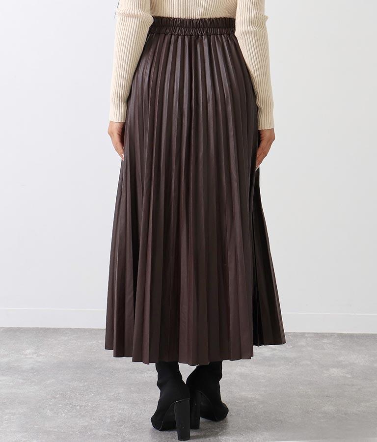 エコレザープリーツロングスカート(ボトムス・パンツ /スカート) | ANAP