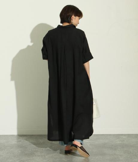 袖レーススキッパーシャツワンピース(ワンピース・ドレス/ロングワンピ)   Factor=