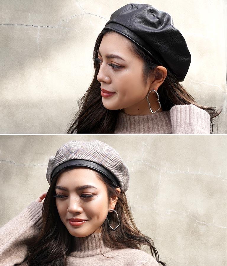 リバーシブルベレー帽
