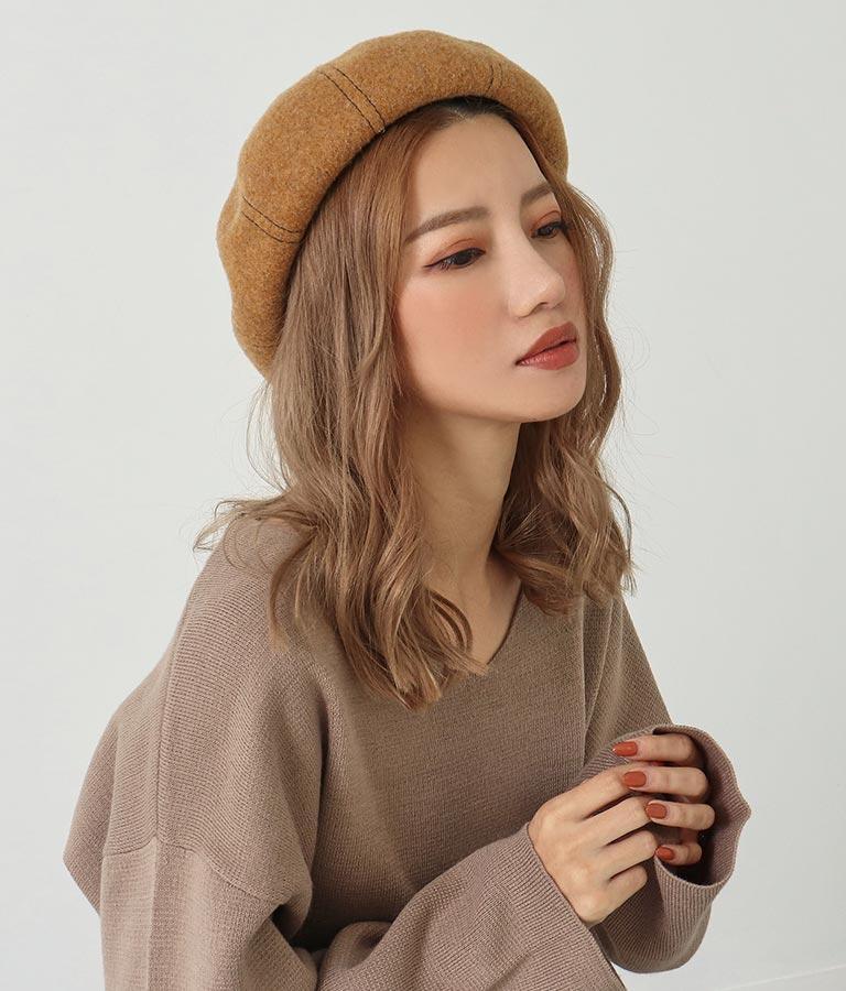 ウールベレー帽(ファッション雑貨/ハット・キャップ・ニット帽 ・キャスケット・ベレー帽) | ANAP