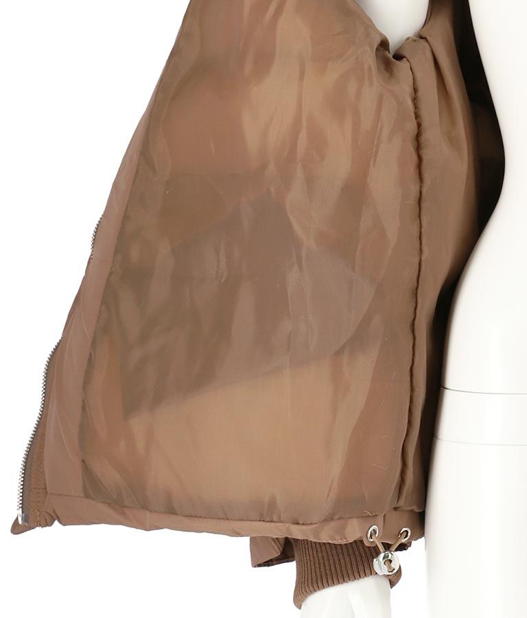 襟フェイクファー中綿ダウン風ジャケット(アウター(コート・ジャケット) /ジャケット・ブルゾン) | anap mimpi