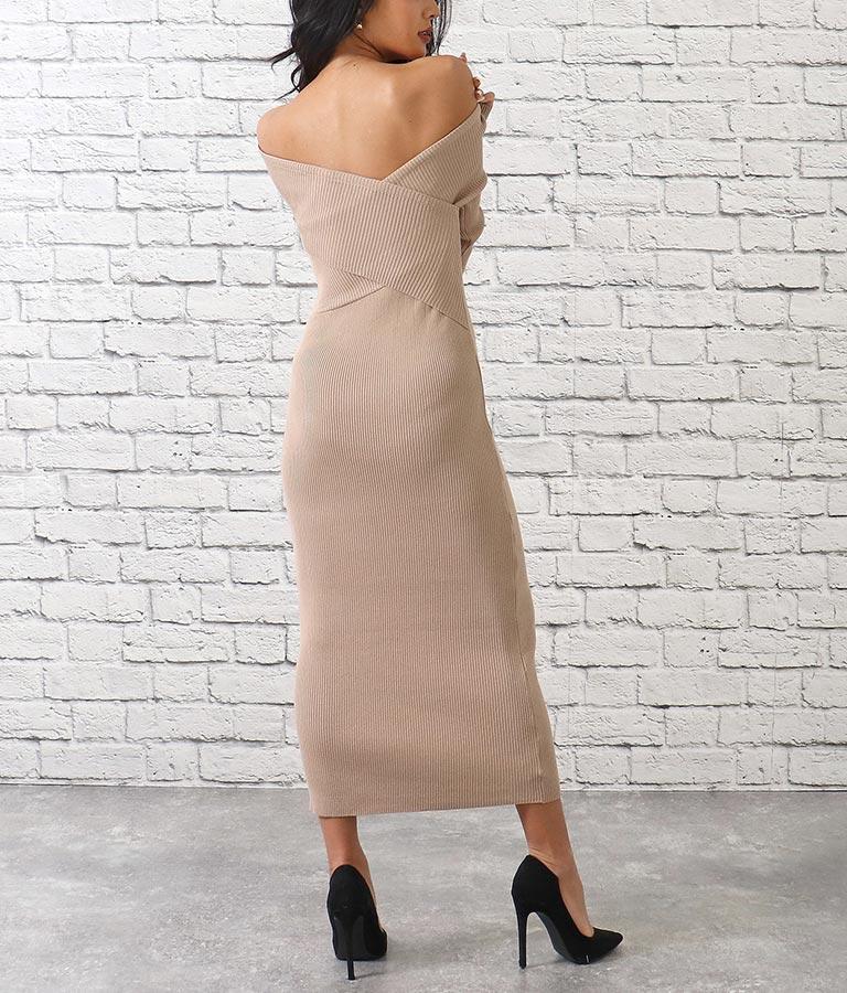 前後2wayクロスリブニットロングワンピース(ワンピース・ドレス/ロングワンピ) | anap Latina