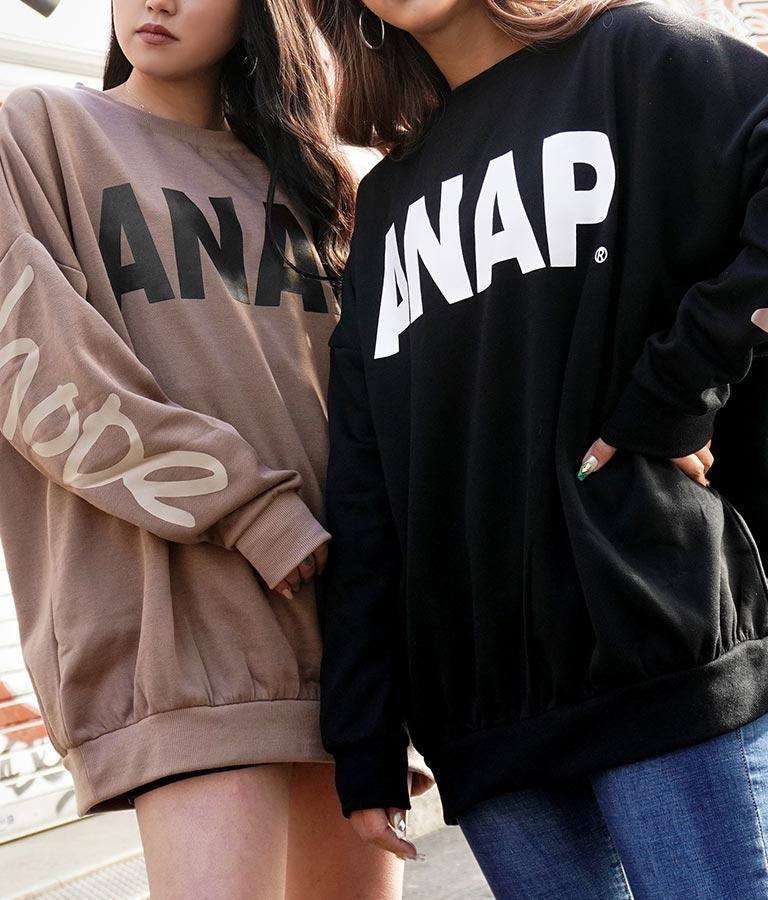 ANAPロゴ裏起毛チュニック | ANAP