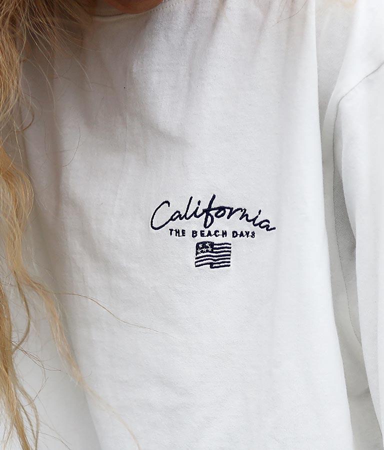 国旗刺繍ロングTシャツ | anap mimpi