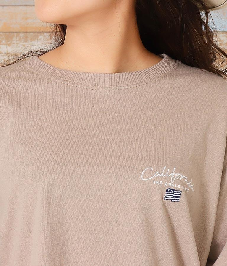 国旗刺繍ロングTシャツ(トップス/Tシャツ・ロングTシャツ) | anap mimpi