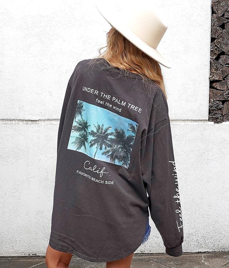 フォトプリントメッセージロングTシャツ | anap mimpi