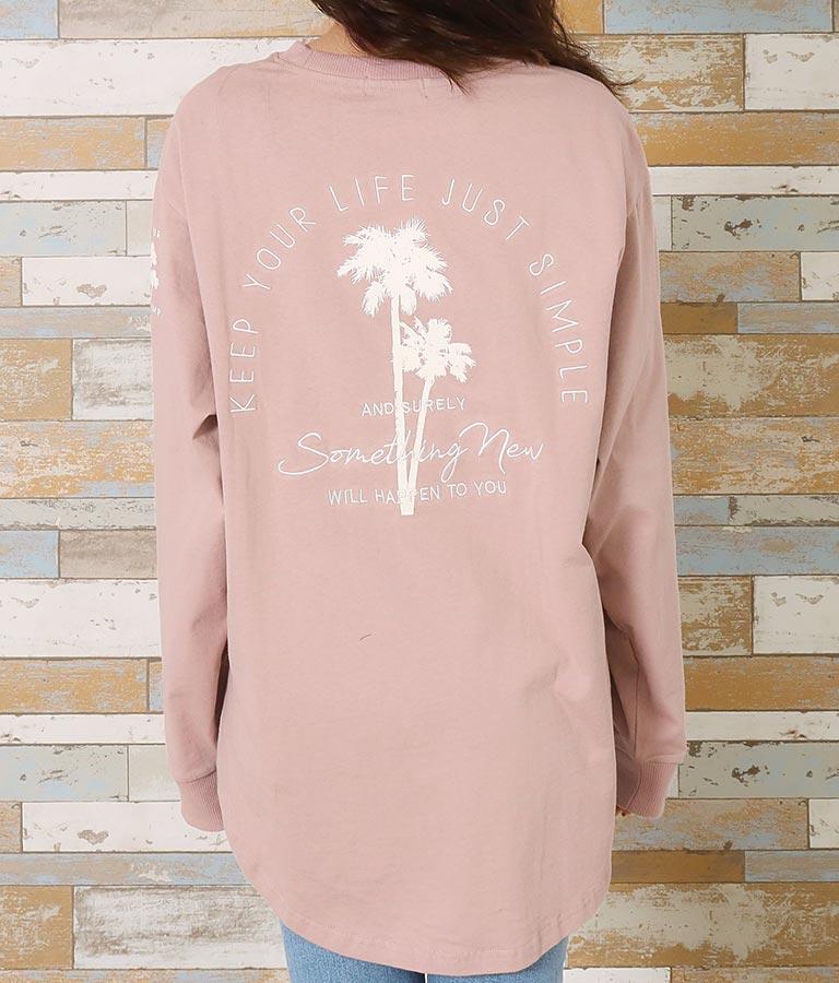 パームツリー刺繍ロングTシャツ | anap mimpi