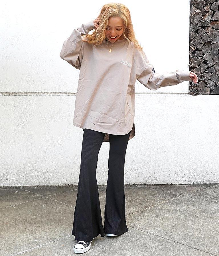 刺繍サーフデザインロングTシャツ | anap mimpi