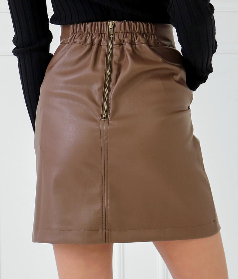 フェイクレザー台形スカート(ボトムス・パンツ /スカート) | anap Latina